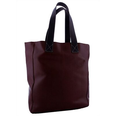 Leatherbay Leather Shopping Tote in Dark Brown