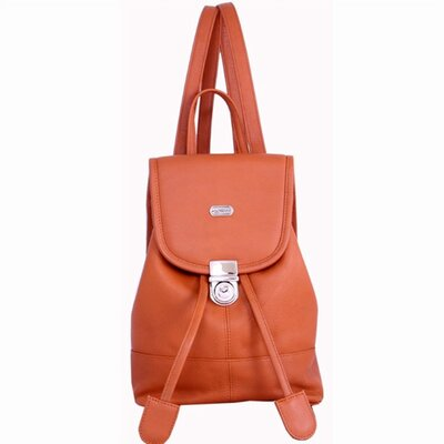 Leather Mini Backpack in English Tan