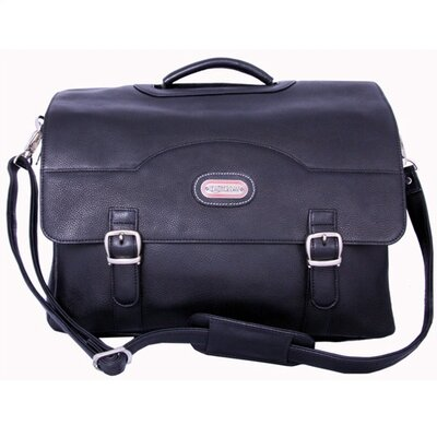 Stanford Leather Briefcase in Black