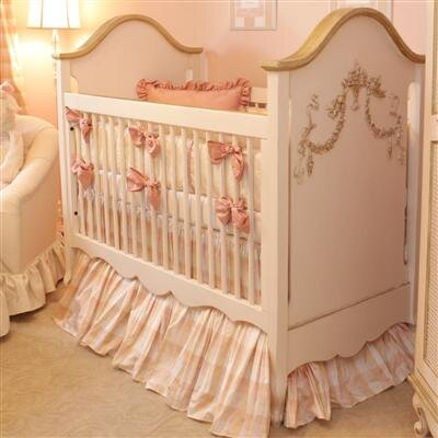 Petit Tresor Petit Ange Crib in Beige with Real Gold Leaf