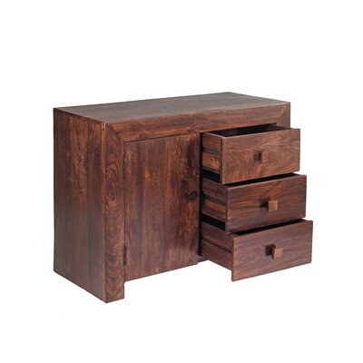 Indian Hub Mango Toko Three Drawer Sideboard