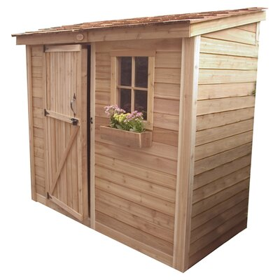 Outdoor Living Today SpaceSaver Wood Lean-To Shed