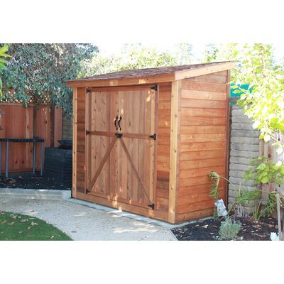 """Outdoor Living Today SpaceSaver 8'7"""" W x 4'7"""" D Wood Lean-To Shed"""