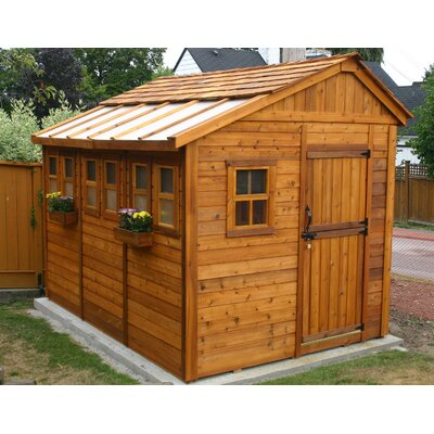 Outdoor Living Today Sunshed Wood Garden Shed