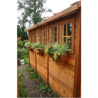 Outdoor Living Today Sunshed 12ft. W x 12ft. D Wood Garden Shed