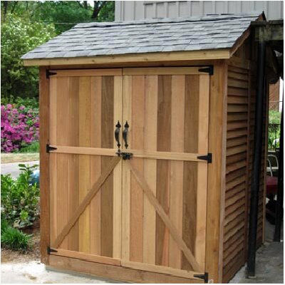 Maximizer 6 ft w x 6 ft d wood storage shed wayfair for Outdoor wood shed