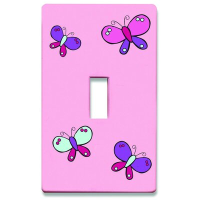 HomePlates Worldwide Butterflies Decorative Light Switchplate Cover - Single Toggle Switch