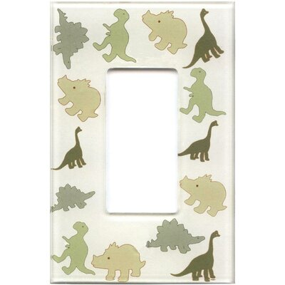 HomePlates Worldwide Artitude Dinosaurs Decorative Light Switch Cover - Single Rocker Switch