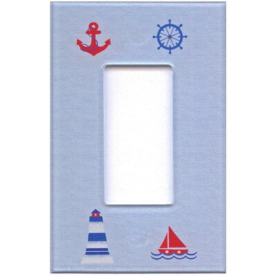 HomePlates Worldwide Artitude Nautical Decorative Light Switch Cover - Single Rocker Switch