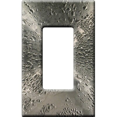 HomePlates Worldwide Artitude Water Drops on Stainless Steel Decorative Light Switch Cover - Single Rocker Switch