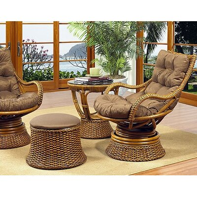 Boca Rattan Biscayne Leather Chair