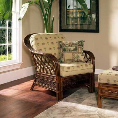 Boca Rattan Coco Cay Leather Armchair