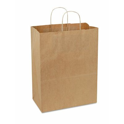 "BAGCO™ 7"" x 13"" x 7"" Handled Shopping Bags in Natural"