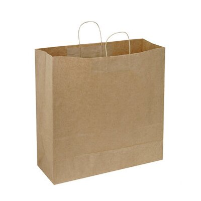"BAGCO™ 21"" x 14"" x 9"" Shopping Bags in Natural"