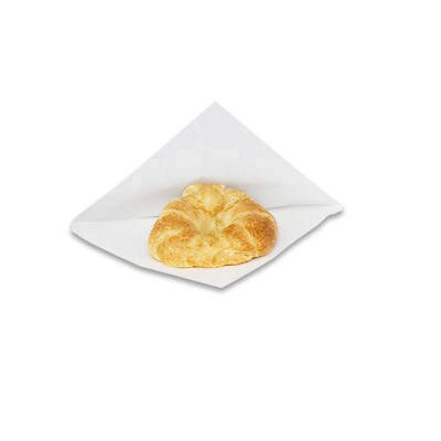 "BAGCRAFT PAPERCON® 6.5"" x 6"" x 0.75"" Open-Side Grease-Resistant Sandwich Bags in White"