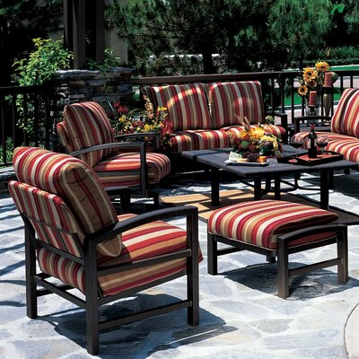 Tropitone Lakeside Lounge Chair and Ottoman with Cushion
