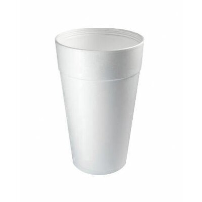 DART® 32 Oz Hot / Cold Foam Cups 25 / Bag in White