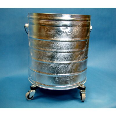 "Geerpres® Galvanized 11 Gallon Round Mop Bucket with 2"" Casters"