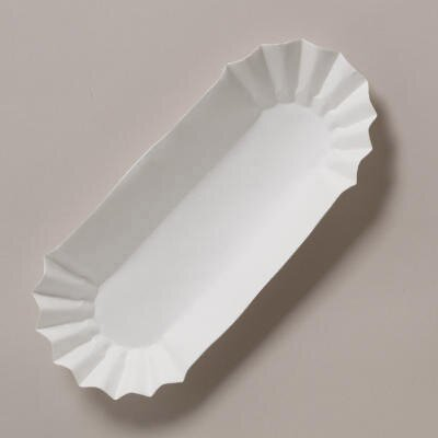 HOFFMASTER® Fluted Hot Dog Trays in White