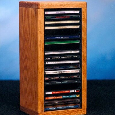Wood Shed 100 Series 20 CD Dowel Multimedia Tabletop Storage Rack