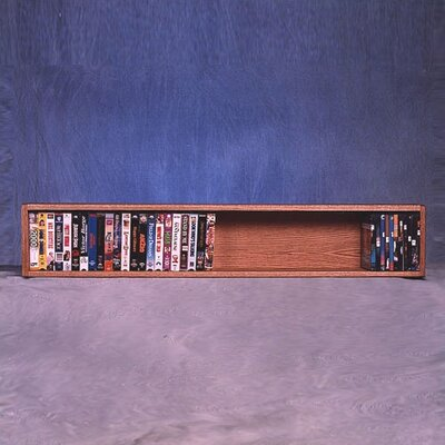 100 Series 50 VHS Wall Mounted Multimedia Storage Rack