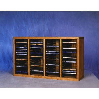 Wood Shed 400 Series 80 CD Multimedia Tabletop Storage Rack