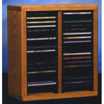 Wood Shed 200 Series 40 CD Multimedia Tabletop Storage Rack
