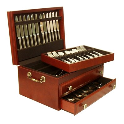Marquis Flatware Storage Chest in Deep Mahogany for Sale | Wayfair