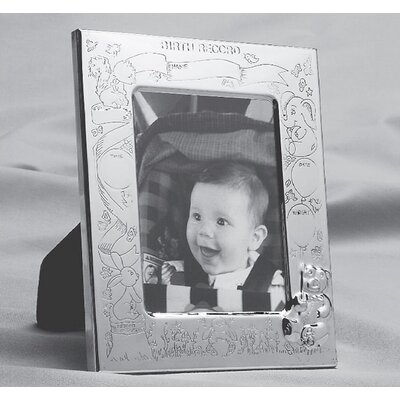 Oneida Stainless Steel Silver Plated Birth Record Frame