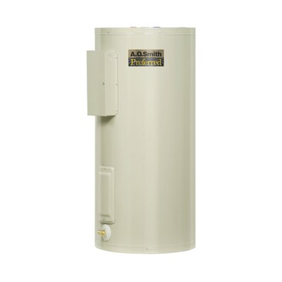 A.O. Smith Commercial Tank Type Water Heater Light Duty Electric 20 Gal Dura-Powered Preferred 6KW Input