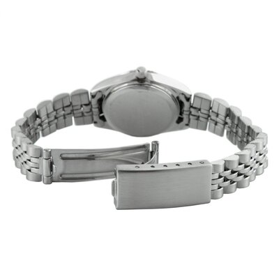 Peugeot Women's Crystal Marker Ribbed Bezel Bracelet Watch in Silver Tone
