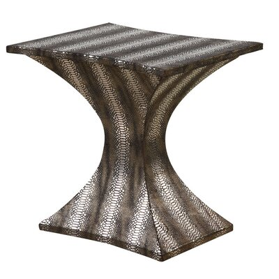 Gail's Accents Modern Striped Hour Glass End Table