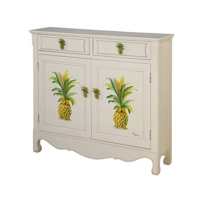 Gail's Accents Shoreline Distressed Betsy Drake Pineapple Cupboard