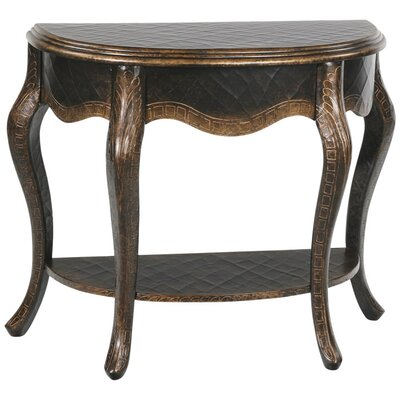 Gail's Accents Sintra Open Demilune Console Table