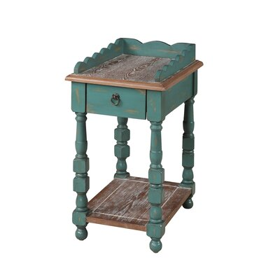 Cottage Spool End Table