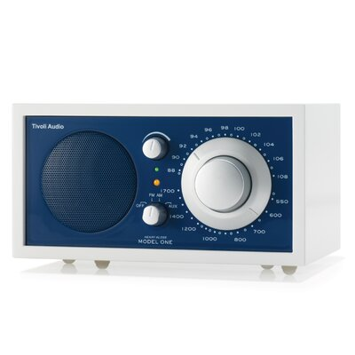 Tivoli Audio LLC Model One Radio in Frost White / Atlantic Blue