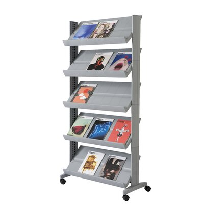 Paperflow X-Large Single Sided Literature Display in Silver