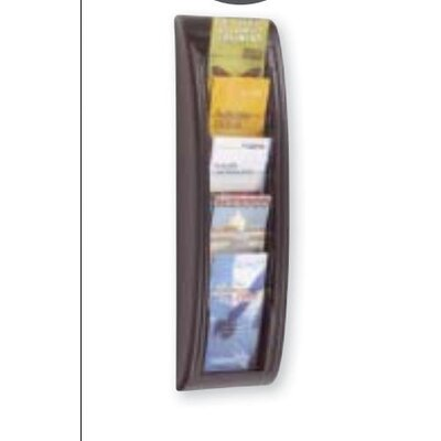Paperflow 1/3 Letter Quick Fit Systems Literature Display with Five Pockets in Black