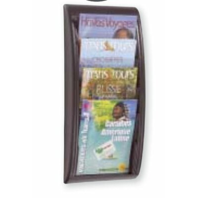 Paperflow Letter Quick Fit Systems Literature Display with Four pockets in Black