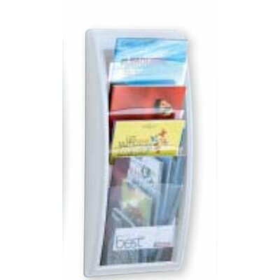 Paperflow Letter Quick Fit Systems Literature Display with Four pockets in White