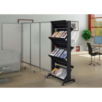 Paperflow X-Large Double Sided Literature Display in Black