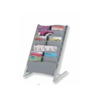 Paperflow Seven Compartment Floor Literature Display in Silver