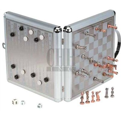 CHH Large Magnetic Chess & Backgammon Game Set