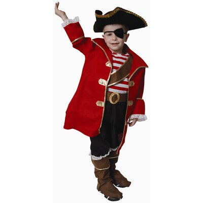 Dress Up America Deluxe Pirate Captain Children's Costume Set