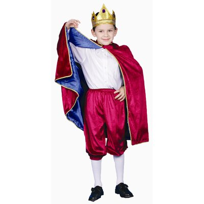 Dress Up America Deluxe Royal King Dress Up Children's Costume in Maroon