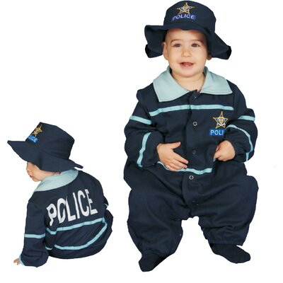 Dress Up America Baby Police Officer Costume Set