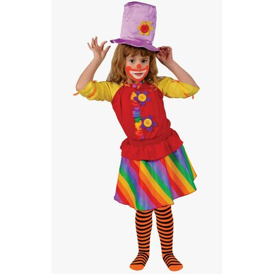 Rainbow Girl's Clown Costume