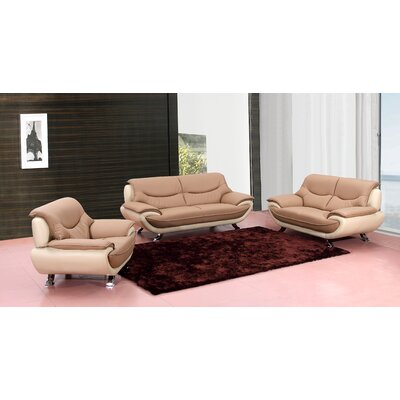 Tip Top Furniture Toned Leather Loveseat
