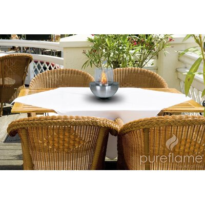 PureFlame Sperical Glass Tabletop Fireplace