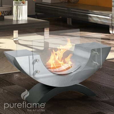PureFlame Half Ellips Table Top Fireplace